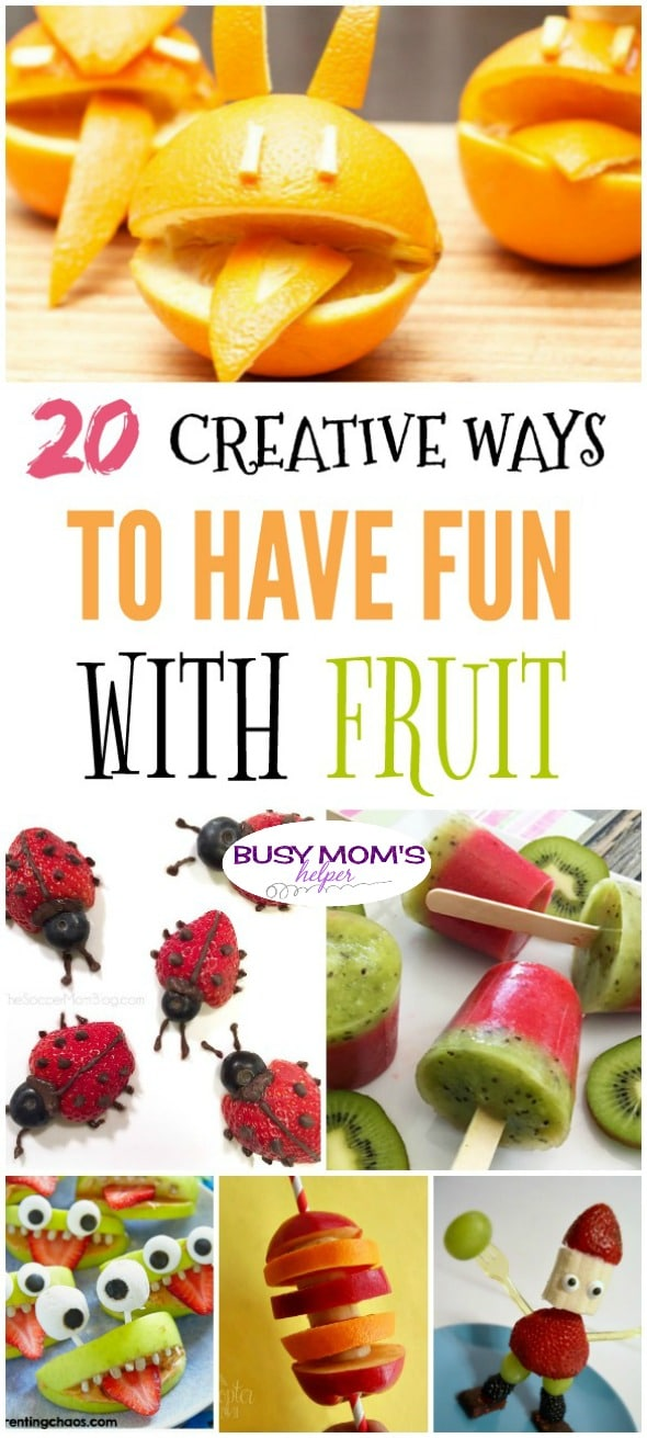 20 Creative Snack Ideas with Fruit - Busy Moms Helper