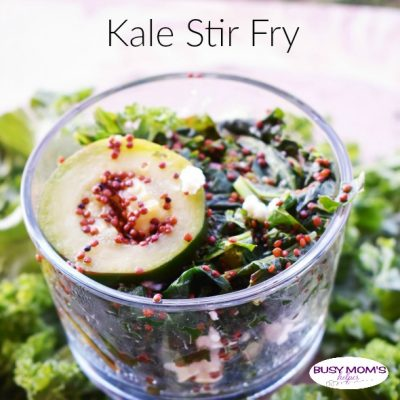 Kale Stir Fry - Busy Moms Helper