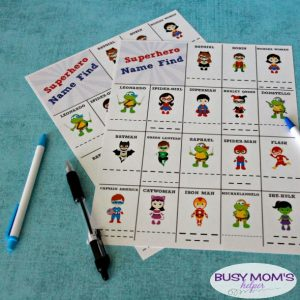 Free Printable Road Trip Superhero Game for hours of fun! #ad #RoadTripTreats