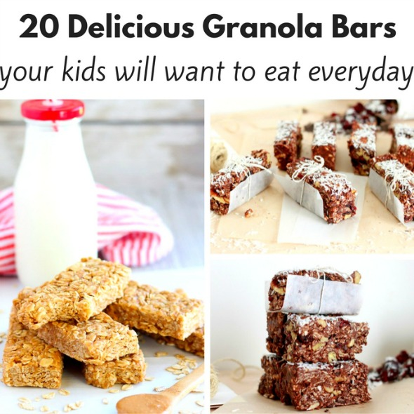 20 Delicious Granola Bar Recipes your kids will love!