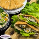 Poppy Seed Chicken Pitas
