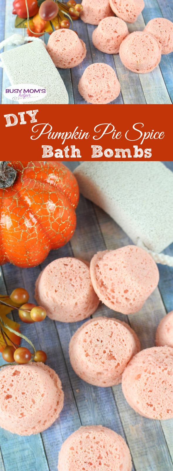 DIY Pumpkin Pie Spice Bath Bombs