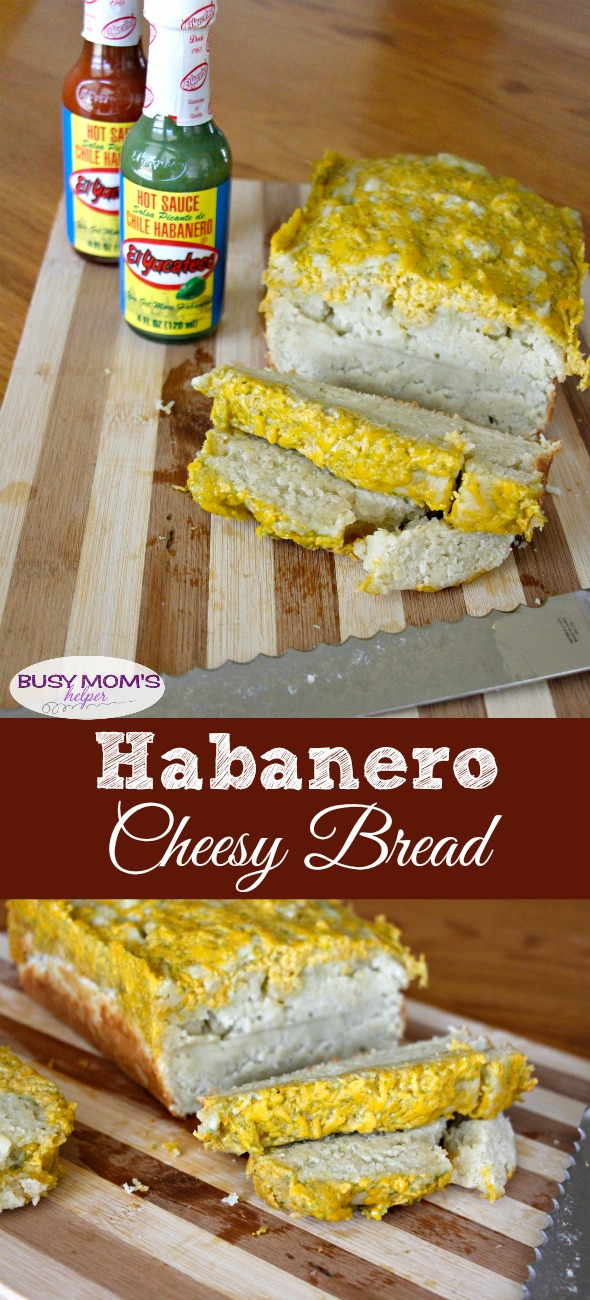 Habanero Cheesy Bread #ad #KingofFlavor #FieldToBottle