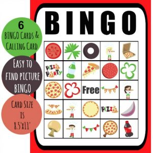 Free Printable Pizza Party Bingo