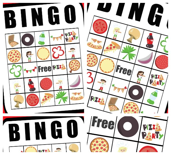 photograph regarding Pizza Printable named Cost-free Printable Pizza Social gathering Bingo - Active Mothers Helper