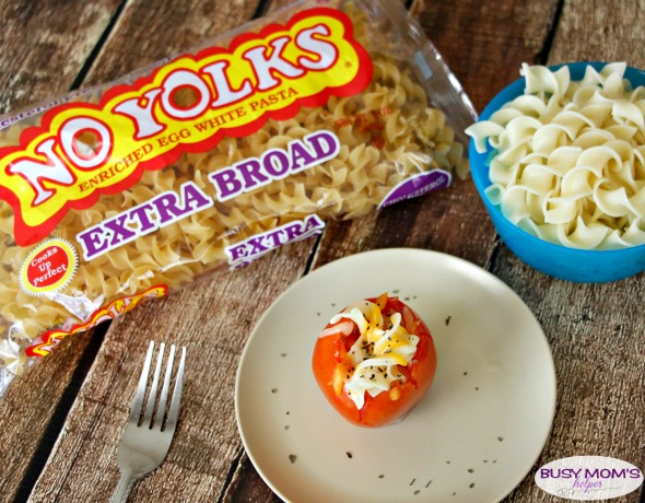 Noodle Stuffed Tomatoes #ad #NoYolks #NoOtherNoodle #IC