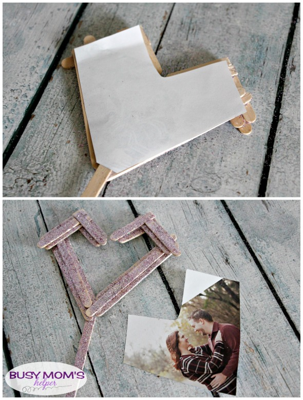 DIY Valentine Frame from Craft Sticks #valentine #craft #frame #popsiclesticks #craftsticks #craft #diy