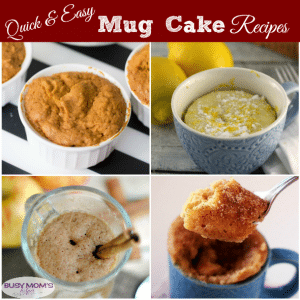 15 Quick & Easy Mug Cake Recipes