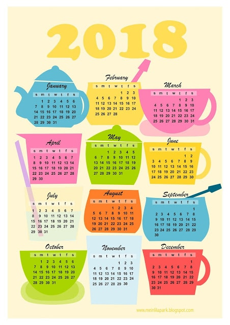 List of our Favorite Free Printable Planners & Calendars for 2018 #freeprintable #2018planner #2018calendar #monthlycalendar #monthlyplanner #weeklyplanner #scheduling #timemanagement