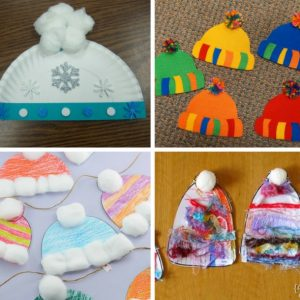 12 Winter Hat Kid Crafts #kidcrafts #wintercrafts #kidactivities #winter