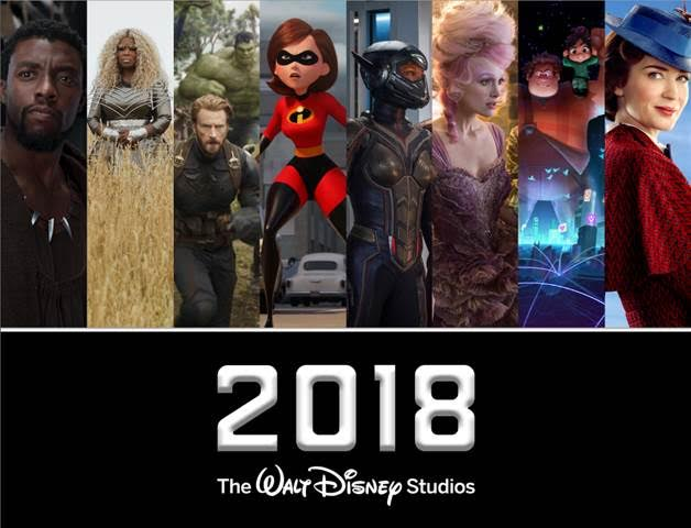 Walt Disney Studios 2018 Movie Schedule - movies coming out in 2018 #disney #disneystudios #waltdisney #movies #movieschedule #2018movies
