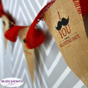 How to Print on Burlap & Valentine Date Invitation Printable