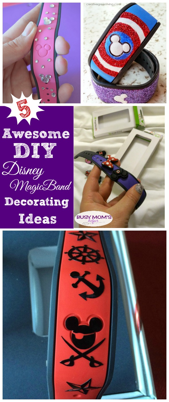 DIY Disney MagicBand Decorating Ideas #disney #magicband #diy #waltdisneyworld #craft