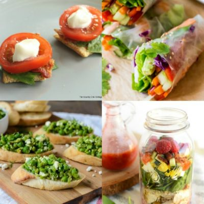 20 Light Spring Appetizer Recipes #roundup #appetizer #recipe #springfood #food
