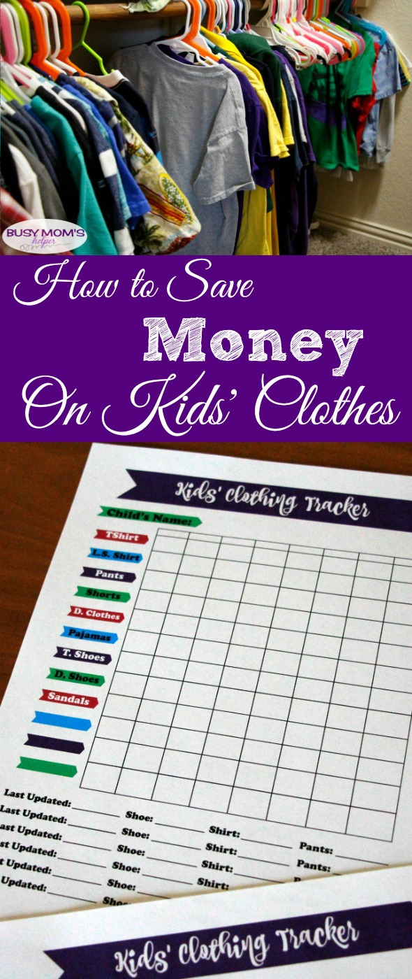 How to Save Money on Kids' Clothes #finance #money #printable #freeprintable #shopping #homemanagement #budget