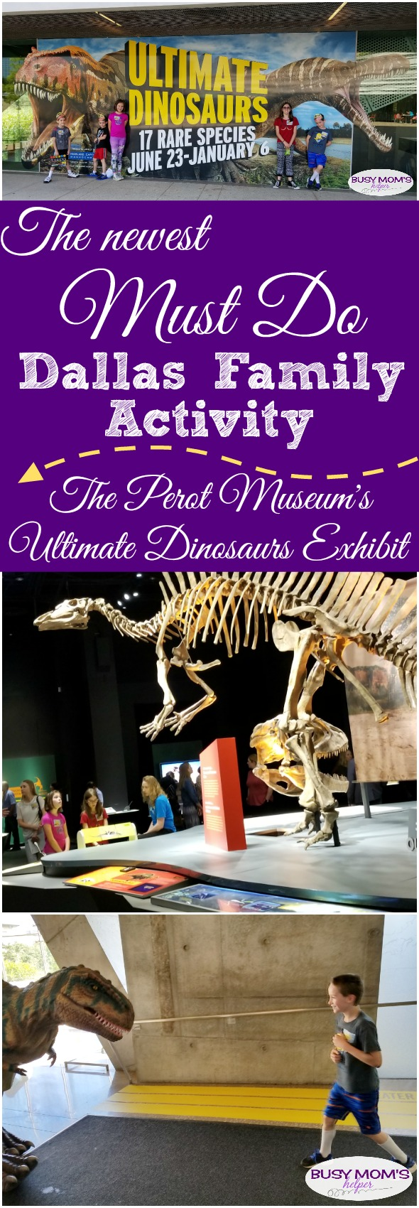 Newest Must Do Dallas Family Activity - the Perot Museum's Ultimate Dinosaur Exhibit! (partner) #dinosaur #perotmuseum #family #familyfun #familyactivity #dallas #texas #dfw