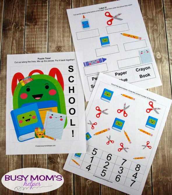 Monthly Printable Subscription Plan - July printables! Perfect for back to school, planning, Harry Potter fans & more! #backtoschool #printables #harrypotter #wizard #kidactivities #schoolactivities #planner #calendar #photoprop #schoolphoto