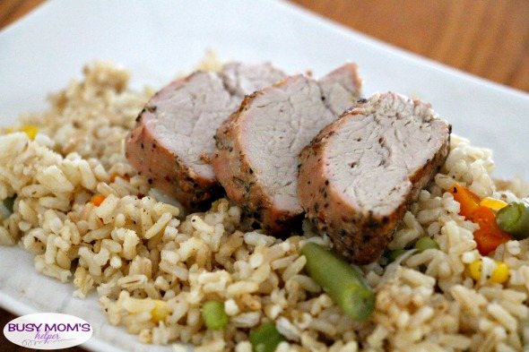 Grilled Pork with Tinfoil Fried Rice #ad #RealFlavorRealFast #recipe #grilling #marinatedpork #friedrice #sidedish #grillingrecipe