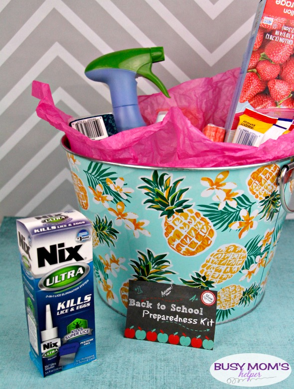Back to School Preparedness Basket #ad #NixUltra #parenting #gift #backtoschool #kids