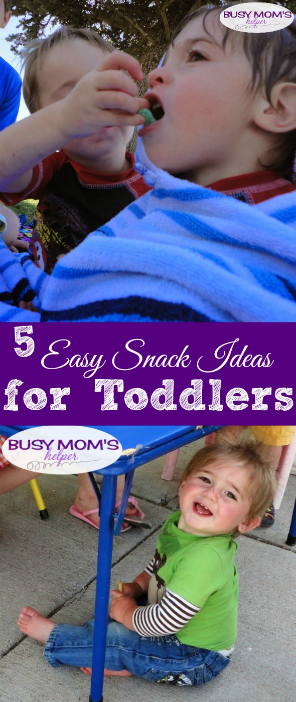 5 Easy Snack Ideas for Toddlers #toddlers #snack #snacktime #snackideas #toddlersnacks #kids