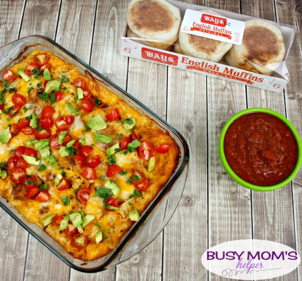 Queso Fundido Strata Recipe - a perfect brunch or appetizer dish! #AD #BetterWithBAYS #recipe #brunch #appetizer