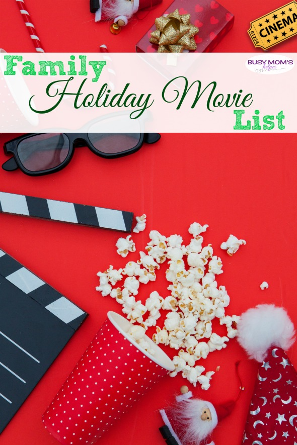 Family Holiday Movie List / Great Christmas movies for the family to enjoy together! #christmas #holiday #movies #christmasmovies #holidaymovies #familymovies #traditions
