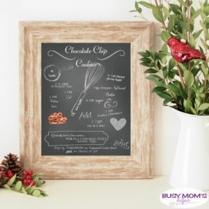 Free Printable Chalkboard Chocolate Chip Cookie Recipe
