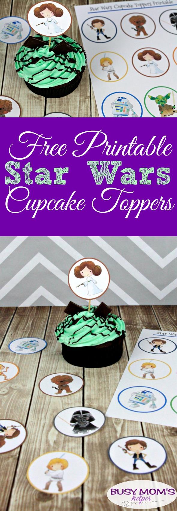 Star Wars Printable Cupcake Toppers #printable #freeprintable #starwars #starwarsprintable #cupcaketoppers #starwarsparty #printablecupcaketopper