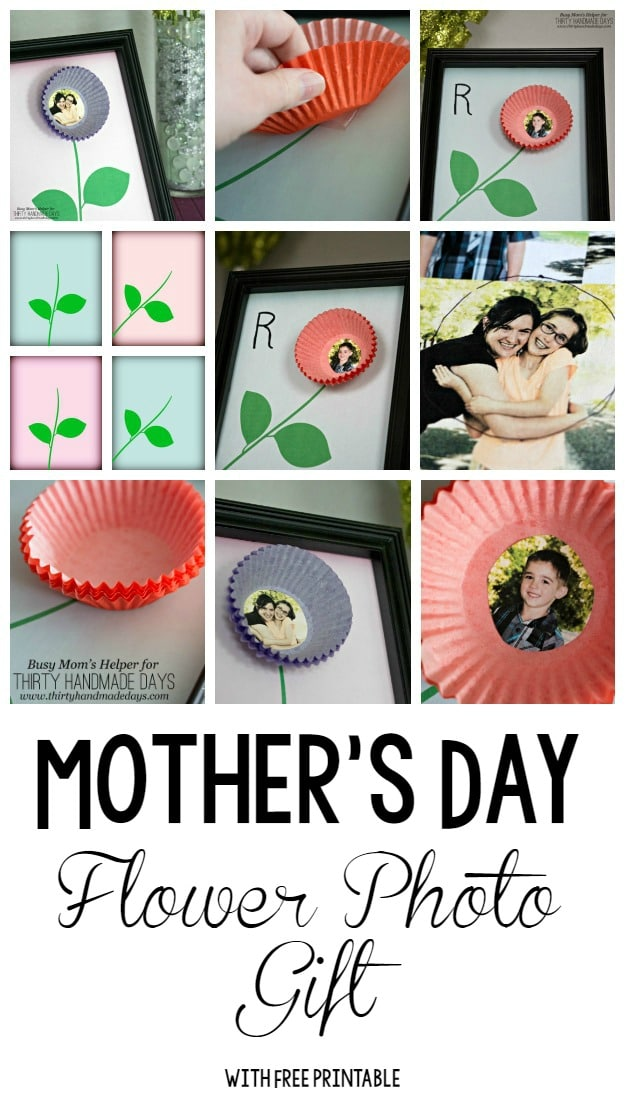Mother's Day Flower Photo Gift / by BusyMomsHelper.com for ThirtyHandmadeDays.com