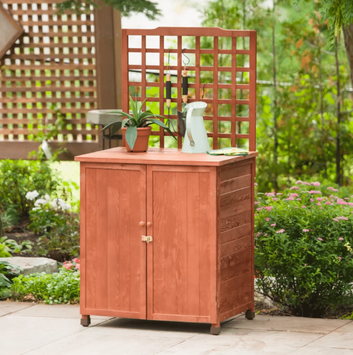 Potting Table with Storage for Gardening