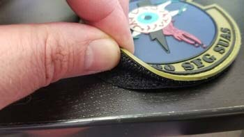 Attach Patches Using Hook And Loop Velcro